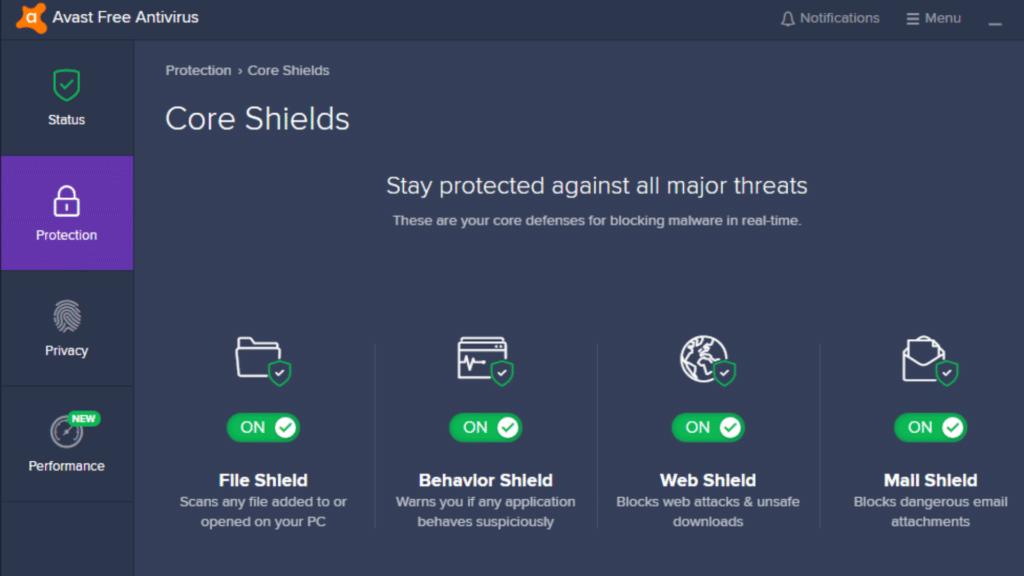 avast core shield