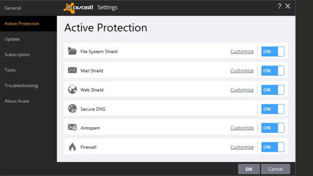 avast active protection