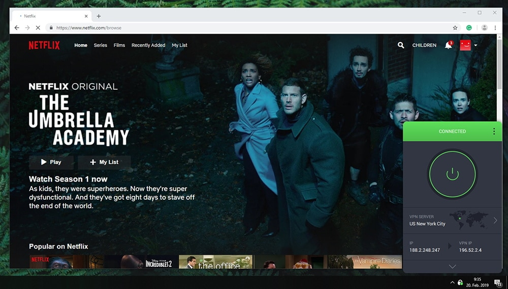 PIA Works With Netflix US