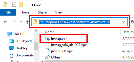 How to use the Avast Offline installer